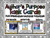 EDITABLE Author's Purpose Task Cards with Cooperative Learning Activities