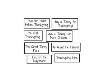 Author's Purpose Thankgiving