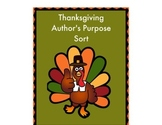 Author's Purpose Thanksgiving