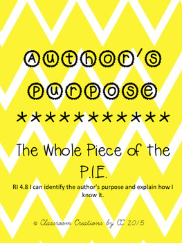 Author's Purpose-Another Piece of the Author's P.I.E.