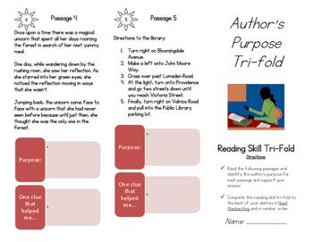 Author's Purpose Tri-fold