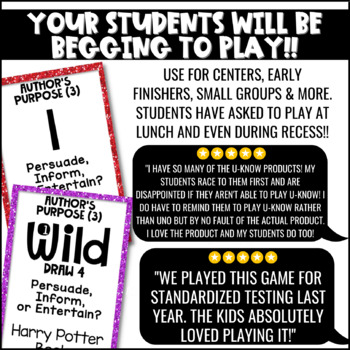 Author's Purpose Game {3 Types} for Literacy Centers