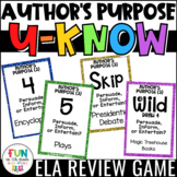 Author's Purpose Game {3 Types} for Literacy Centers: U-Know