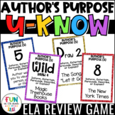 Author's Purpose Game {5 Types} for Literacy Centers: U-Know