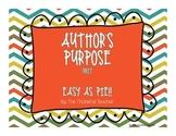 Author's Purpose Unit