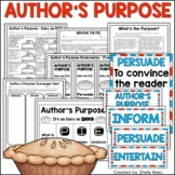 Author's Purpose Unit - Worksheets, Game, Foldable, Activities, Posters, & More