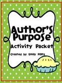 Author's Purpose Unit and Bulletin Board - FUN STUFF