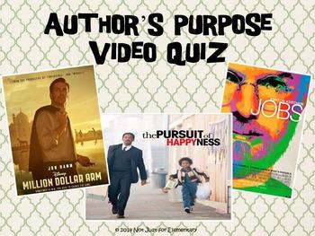 Author's Purpose Video Quiz