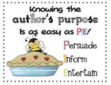 Author's Purpose Visuals Persuade, Inform, Entertain