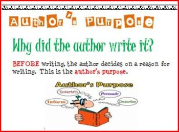 Author's Purpose Wall Charts