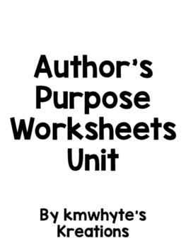 Author's Purpose Worksheet Set