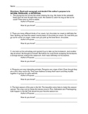Author's Purpose Worksheets