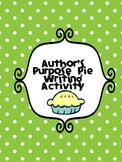 Author's Purpose Writing Activity Bulletin Board FREE