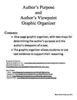 Author's Purpose and Author's Viewpoint Graphic Organizer