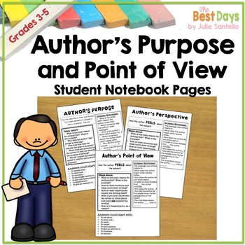 Author's  Point of View / Perspective and Purpose Student Notes Page