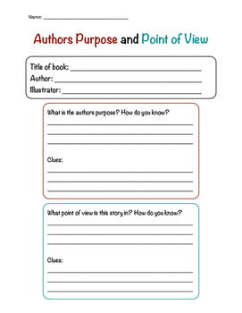 Authors Purpose and Point of View Review