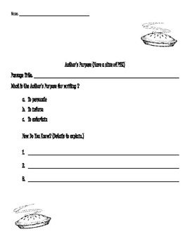 Author's Purpose and Viewpoint Record