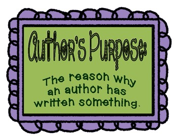 Author's Purpose classroom posters