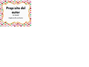 Author's Purpose en español Propósito del autor posters