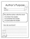 Author's Purpose: inform, persuade, or entertain