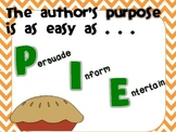 Author's Purpose is Easy as PIE!