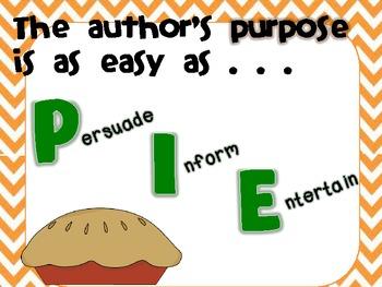 Author's Purpose is Easy as PIE!