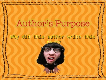 Author's Purpose is More Than Just PIE!
