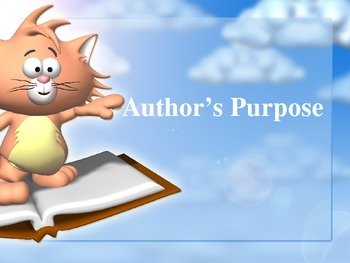 Author's Purpose is as Easy as Pie Powerpoint