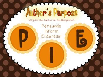 Author's Purpose is as easy as PIE