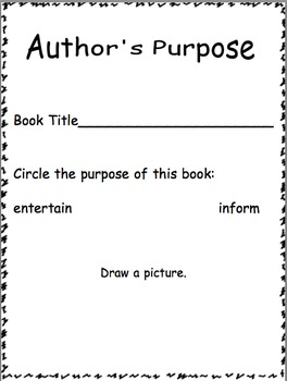 Author's Purpose of a Text