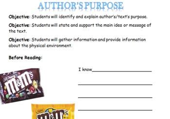 Author's Purpose with M&M's