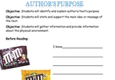 Author's Purpose with M&M's