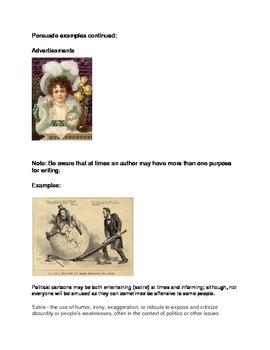 Author's Purpose Inform, Entertain, Persuade QR Code Self-check 28 Cards