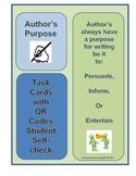 Author's Purpose Inform, Entertain, Persuade QR Code Self-