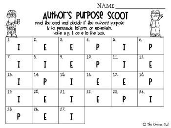 Author's Purpose with the Robertsons