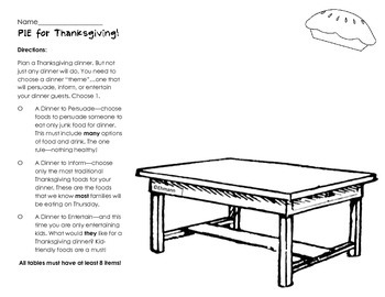 Author's Purpose_Thanksgiving Writing and Activities