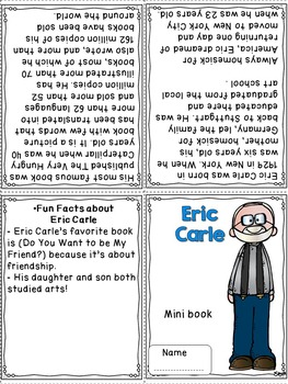 Author Study - Eric Carle
