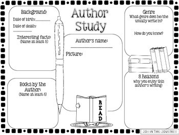 Author Study Worksheet - Freeology