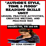Author's Style, Tone & Mood Lesson, Reading & Writing Activities +Practice Test