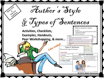 Authors' Styles and Types of Sentences