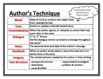 Author's Technique Literacy Visual