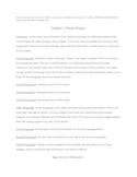 Author's Theme Essay