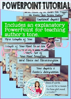 Author's Tone ELA Game + PowerPoint Engaging Middle and High School - CCSS