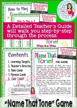 Author's Tone ELA Game & Activities Mini-Unit