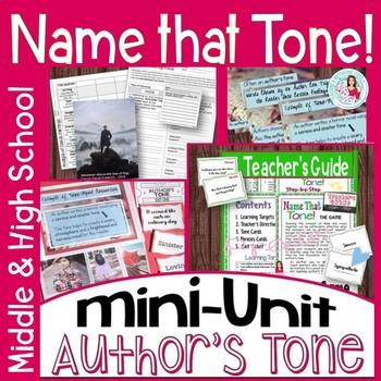 Tone ELA Lesson | Game | Activities