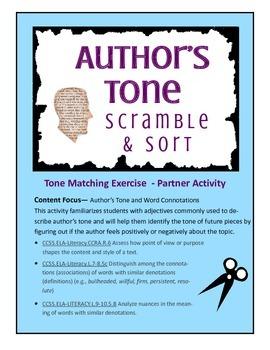 Author's Tone Scramble-n-Sort