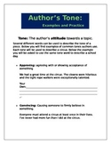 Author's Tone Writing Samples
