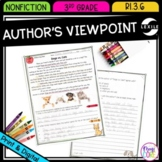 Author's Point of View in Nonfiction - 3rd Grade RI.3.6 - Print & Digital RI3.6