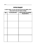 Author's Viewpoint Graphic Organizer