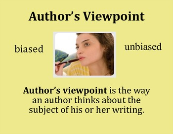 Author's Viewpoint Poster - Intermediate Elementary School Grades